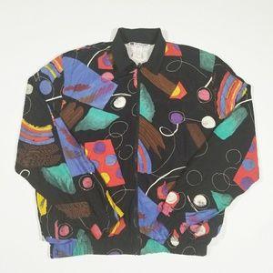 True VTG 80s 90s Geometric Abstract Unisex Jacket